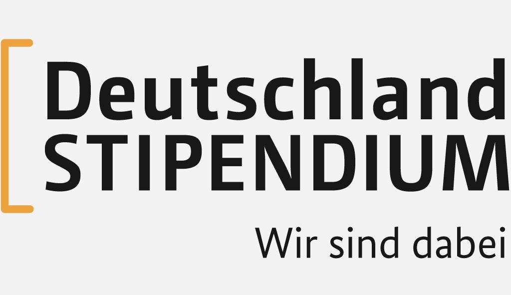 Logo Deutschland Stipendium - Wir sind dabei