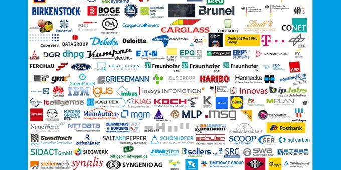 Logo-Übersicht aller teilnehmenden Unternehmen 2019