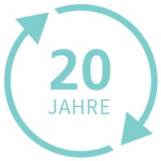 20 Jahre im Kreis als Logo